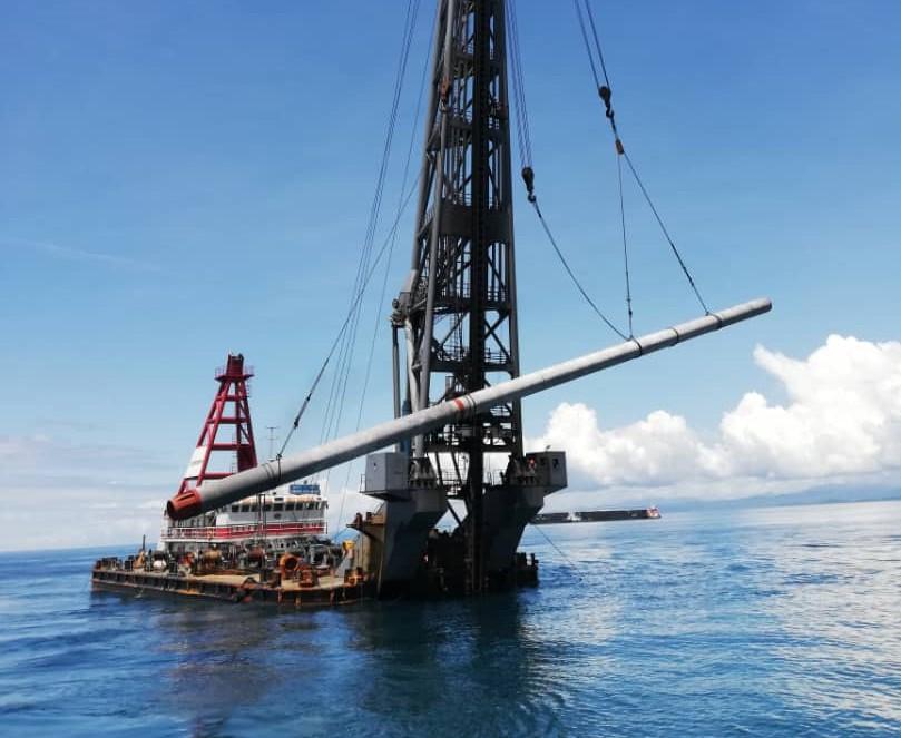 Piling Works for Maluku Weda Bay Bulk Carrier Wharf